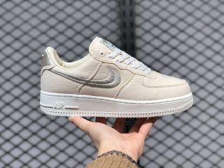 Stussy x Nike Air Force Low 1 Fossil Stone/Sail/Off White CZ9084-200