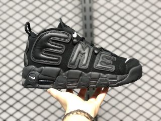 Supreme x Nike Air More Uptempo Black/Black-White 902290-001