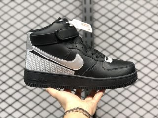 3M x Nike Air Force 1 High Black Silver Best Sell CU4159-001