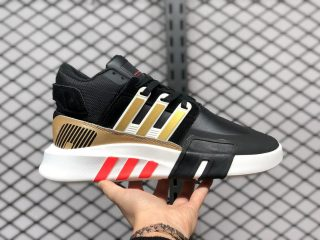 Adidas EQT Bask ADV Black/White-Metallic Gold-Hi-Res Red FW5348
