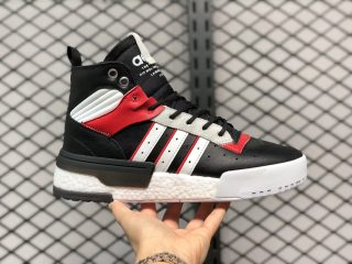 Adidas Rivalry RM Basketball Shoes Black/White-Gym Red EH2181