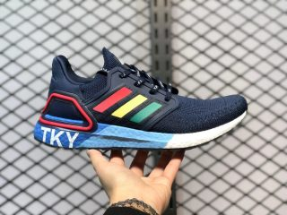 """Adidas Ultra Boost 20 """"City Pack Tokyo"""" Collegiate Navy/Glory Red-Shock Yellow FX7811"""