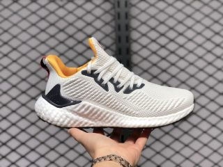 Adidas Wmns Alphaboost White Black Yellow Red Training Shoes EF9042