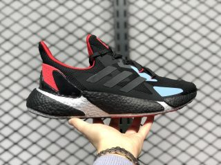 Adidas X9000L4 Boost Sneakers FY0778 Core Black/Solar Red-Ice Blue