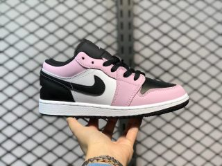 Air Jordan 1 Low GS Light Arctic Pink/Black-White 554723-601