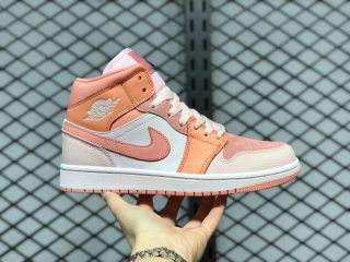 Air Jordan 1 Mid Atomic Orange/Apricot Agate-Terra Blush DH4270-800