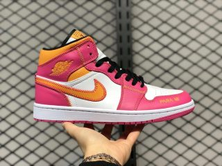 "Air Jordan 1 Mid ""Day of the Dead"" White/Magenta DC0350-100"