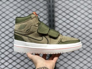 "Air Jordan 1 Retro High Double Strap ""Olive Canvas"" On Sale AQ7924-305"