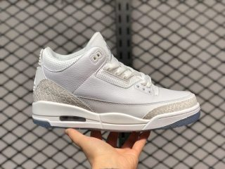 Air Jordan 3 Pure White Basketball Shoes For Sale 136064-111