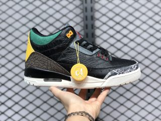 "Air Jordan 3 SE ""Animal Instinct 2.0"" Black/Black-White-Gorge Green CV3583-003"