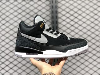 Air Jordan 3 Tinker Black/Cement Grey-Metallic Gold CK4348-007