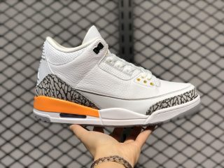 Air Jordan 3 White/Laser Orange-Cement Grey-Black CK9246-108