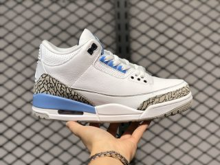 "Best Sell Air Jordan 3 ""UNC"" White/Valor Blue-Tech Grey CT8532-104"