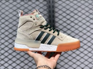Eric Emanuel x adidas Rivalry RM Linen/Green Night-Raw Pink F35091