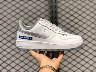 """Nike Air Force 1 Low """"Label Maker"""" White Silver DC5209-100"""
