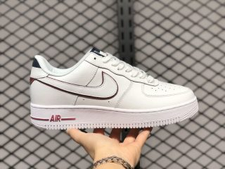 Nike Air Force 1'07 White/Dark Navy-Red Wine New Sale AH0287-212