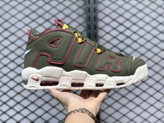 "Nike Air More Uptempo ""Cargo Khaki"" Basketball Shoes DH0622-300"