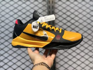 "Nike Kobe 5 Protro ""Bruce Lee"" Del Sol/Metallic Silver-Comet Red-Black CD4991-700"