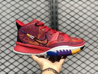 """Nike Kyrie 7 Pre-Heat """"Icons of Sport"""" Red/Multi-Color DC0588-600"""