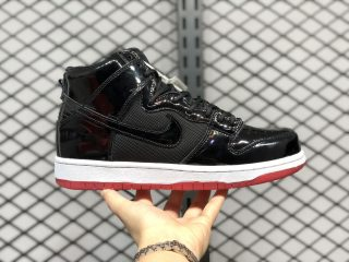 "Nike SB Dunk High ""Bred"" AJ7730-001 Black/Black-White-Varsity Red"
