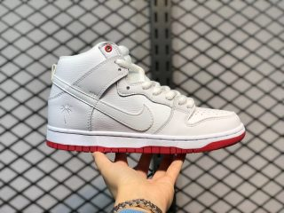 "Nike SB Dunk High ""Kevin Bradley"" White/University Red-White AH9613-116"