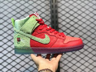 "Nike SB Dunk High ""Strawberry Cough"" University Red/Spinach Green-Magic Ember CW7093-600"