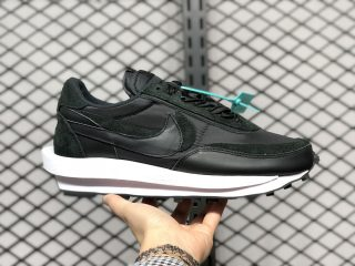 "Sacai x Nike LDWaffle ""Black Nylon"" Jogging Shoes BV0073-002"