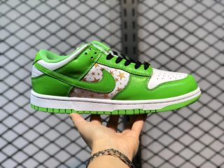 Supreme x Nike SB Dunk Low White/Metallic Gold-Mean Green DH3228-101