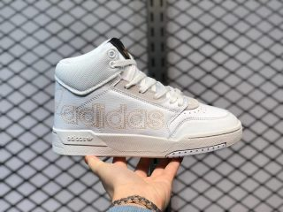 2021 Adidas Drop Step Cloud White/Black-Gold Sneakers FX7681