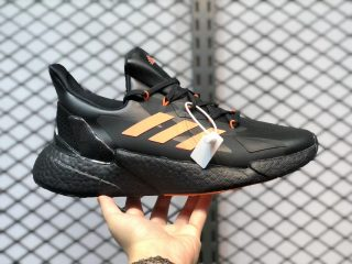 Adidas Boost X9000L4 Core Black Orange Men's Running Shoes FW9396