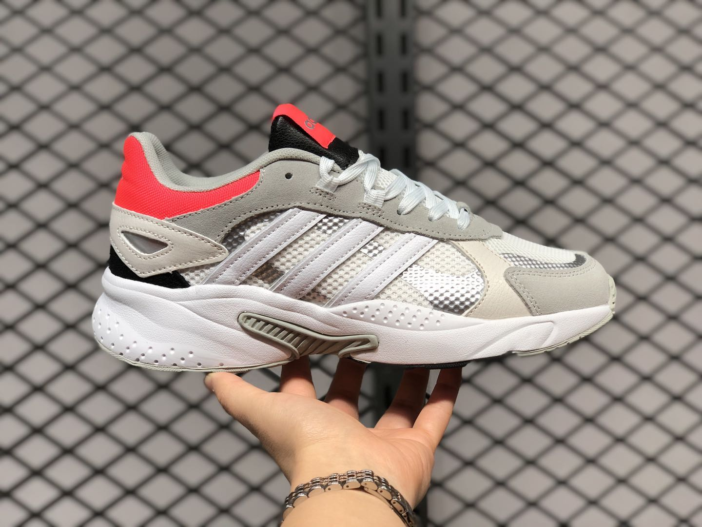 Adidas Neo Crazychaos Cloud White/Core Black-Shock Red FY7822