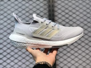 Adidas Ultra Boost 21 Grey One/Cloud White Jogging Shoes FY0556