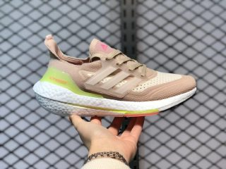 Adidas Ultra Boost 21 Pink/Cloud White Jogging Shoes FY0399