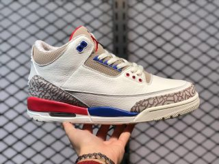 "Air Jordan 3 ""Charity Game"" Sail/Sport Royal-Light Bone-Fire Red 136064-140"