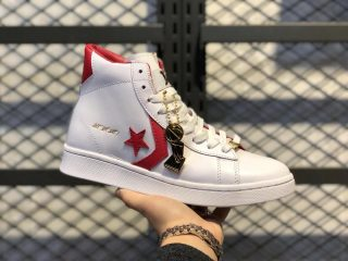 Converse Pro Leather Mid White/Red For Sale 168131C