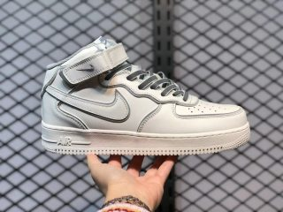 "NIke Air Force 1 '07 Mid ""Daredevil"" White Grey AQ1218-118"
