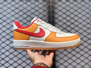 Nike Air Force 1 Low White/Earth Yellow-Gym Red For Sale DC1403-001