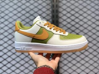 Nike Air Force 1 Low White/Green-Earth Yellow Online Buy DC1403-100