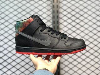 "Nike SB Dunk High ""SPoT"" Black/Challenge Red-Metallic Silver 313171-028"