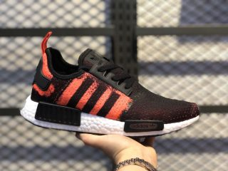 2021 Latest Adidas NMD R1 Core Black/Solar Red-Core Black G27951