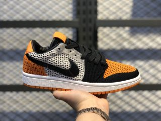 "Air Jordan 1 Low Flyknit ""Shattered Backboard"" Sail/Starfish-Black AH4506-100"