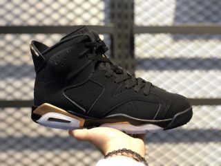 "Air Jordan 6 ""DMP"" Black/Metallic Gold Basketball Shoes CT4954-007"