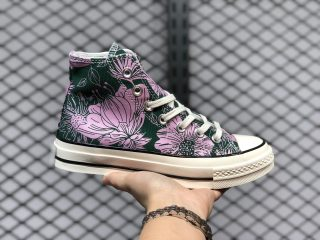 """Converse Chuck 1970s """"Floral"""" Pink Green Canvas Shoes To Buy"""