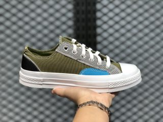 "Converse Chuck 70 ""Mix & Match"" Low Top Dark Moss/Black-White 168700C"