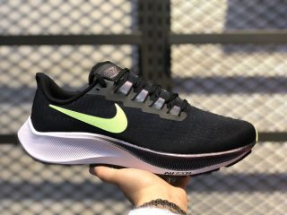 Men's Nike Zoom Pegasus 37 Black/Neon Green-Cloud White For Sale BQ9646-001