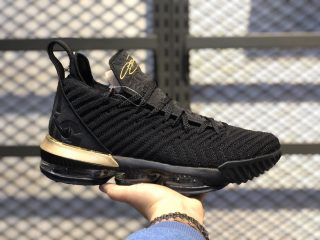 "Nike LeBron 16 ""I'm King"" Black/Metallic Gold-Black BQ5970-007"