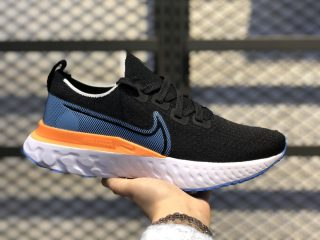 Nike React Infinity Run Flyknit Black/Hyper Blue-Laser Orange CD4371-007