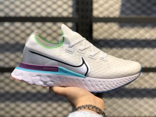 Nike React Infinity Run Flyknit White/Vapor Green-Vivid Purple CD4371-102