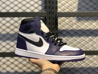 "Air Jordan 1 High OG ""Court Purple"" Court Purple/White-Black 555088-500"