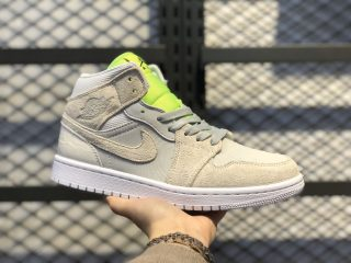 Air Jordan 1 Mid Sneakers Vast Grey/Ghost Green-White CV3018-001